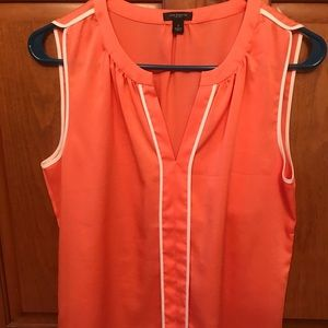 Ann Taylor orange silky tank